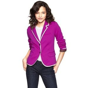 Gap The Academy Blazer Fuchsia Jacket Size 4 Tall